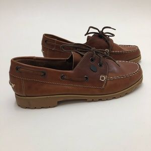 Campers Leather Loafer Lace Shoes Size 9